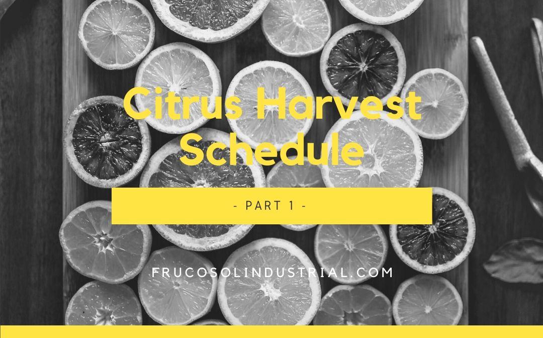 Calendario de recolección de cítricos – Parte 1